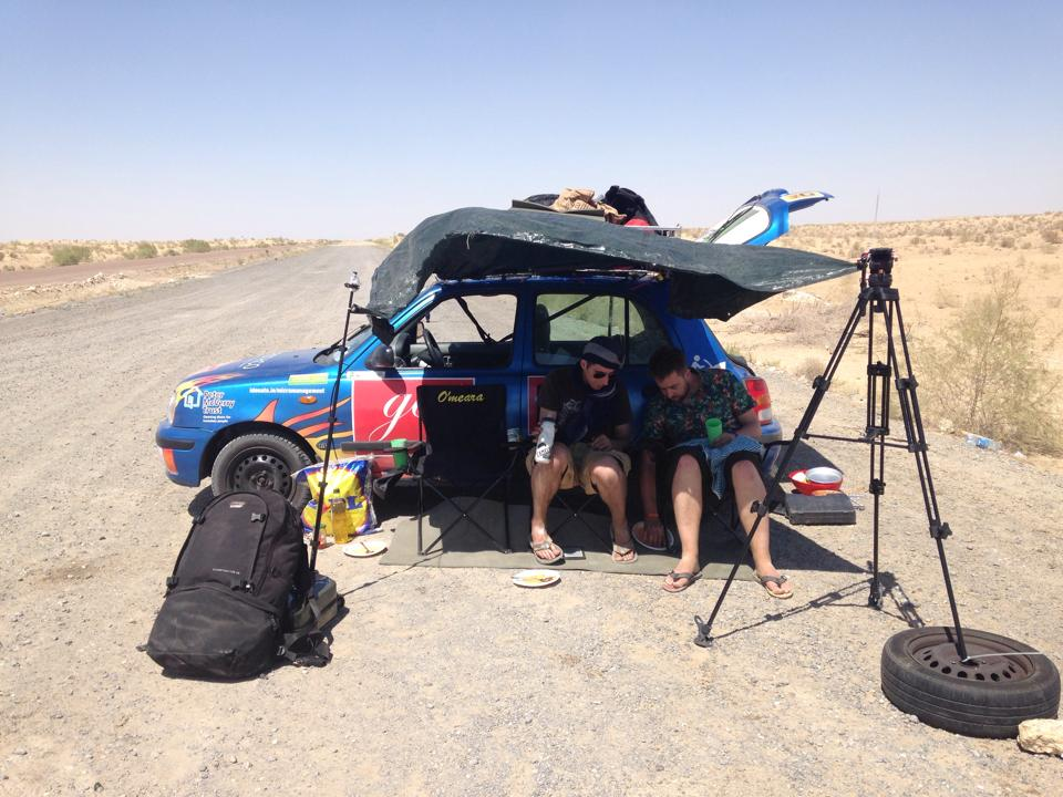 Team Micra Management - Broken down in the desert