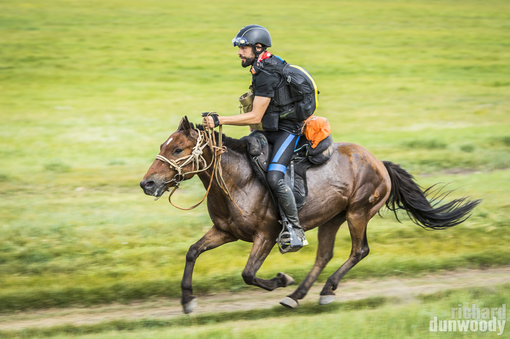 Musse Hasselvall on Day 5 of the Mongol Derby