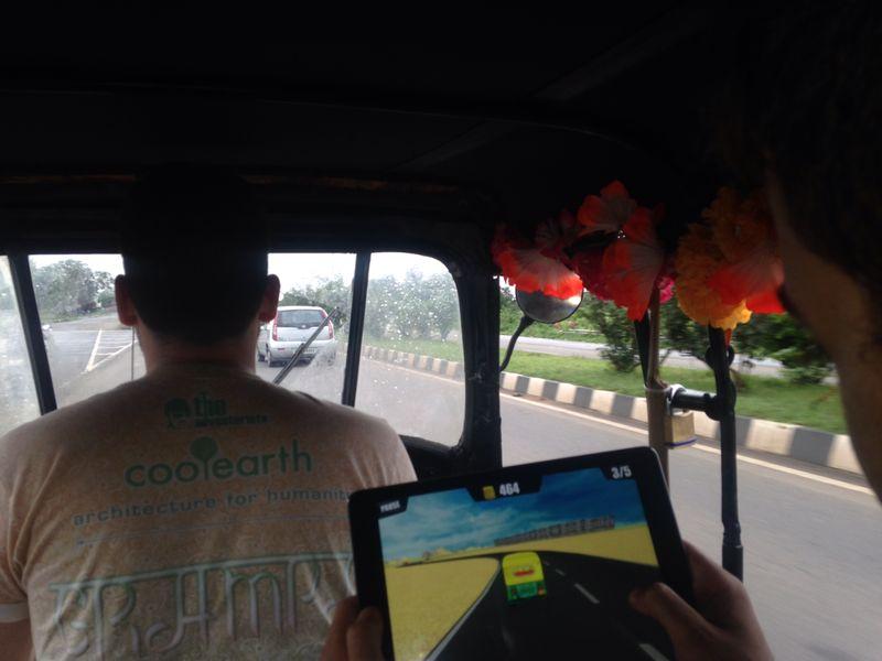 This Rickshaw Run game is pretty realistic (team Archituks)