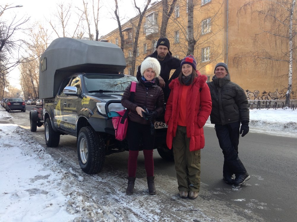 Dmitri, Roman, Lida, me, mothership (Copy).JPG