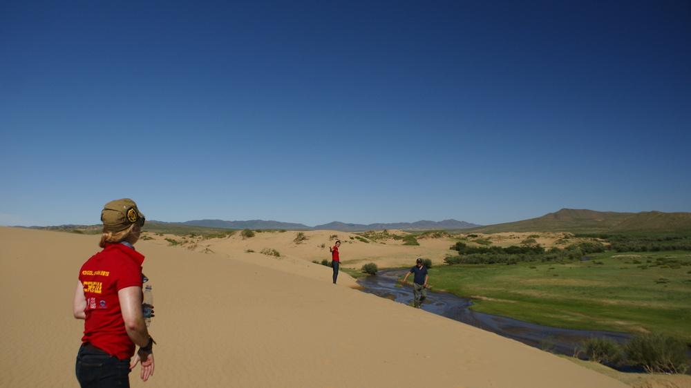 Sand dunes around U1 & 2