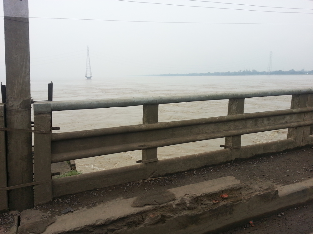 """Here is a rubbish photo of the Ganges."""