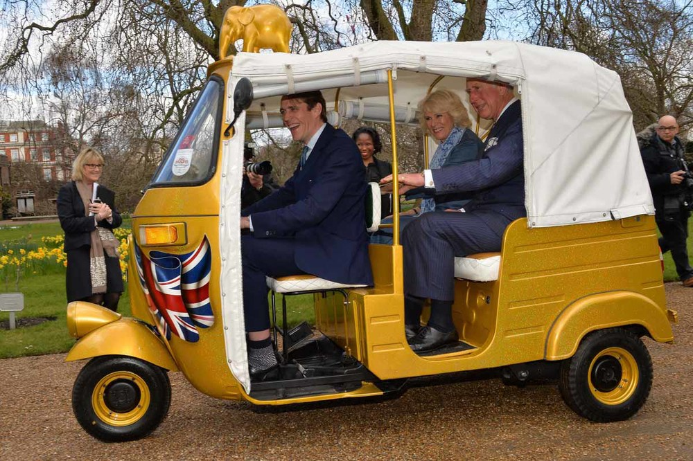 HRH Prince Charles test driving the rick' for us