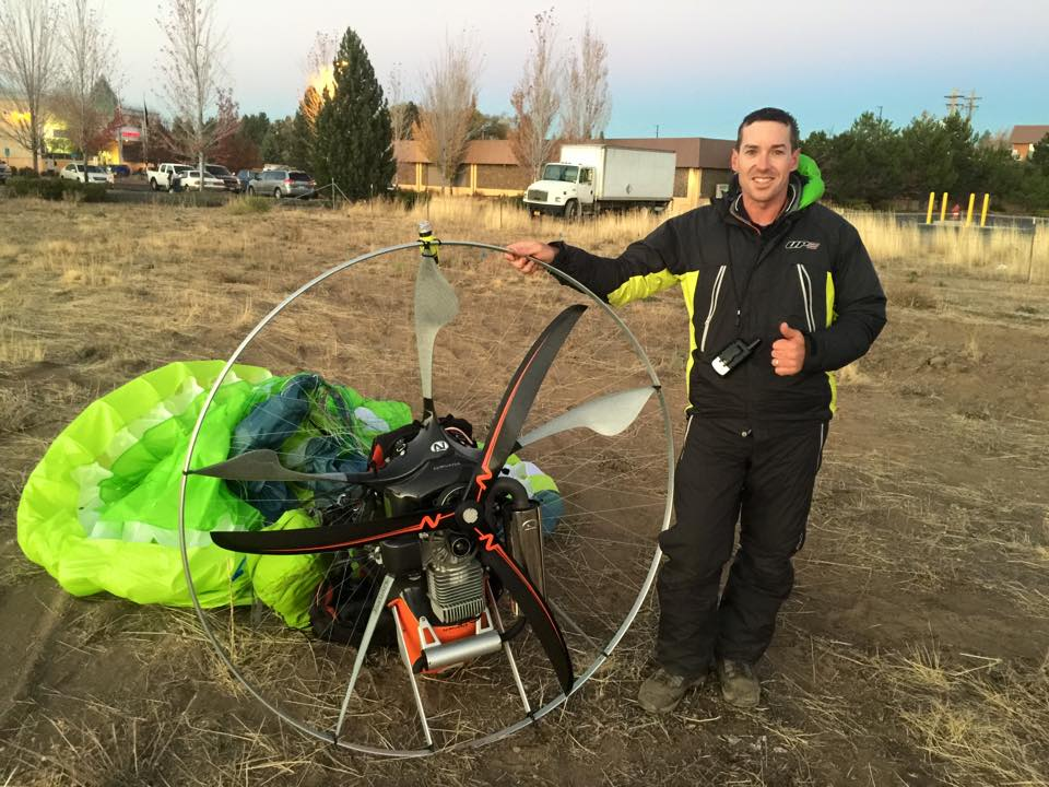 Paramotor Instructor and Owner of High Adventure Paragliding, David Wainwright.