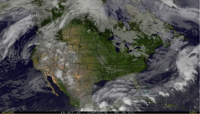 Water Vapor Composite Satellite Shot at 2330 Saturday