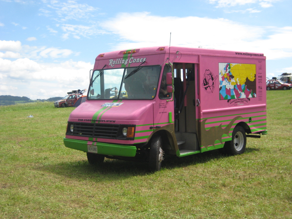 Spray painting an Ice Cream Van pink won't make the engine smaller. Hard No.