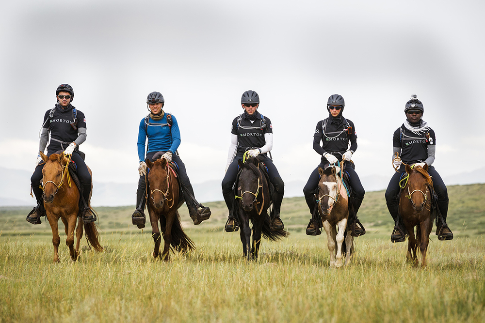 The cavalry team on Day 3 Photo by Laurence Squire for Mongol Derby