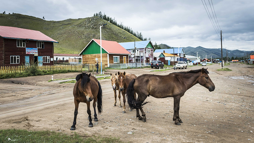 Jargalant soum (town) close to Urtuu 20. It is typical of a lot of towns on the Mongolian steppe.