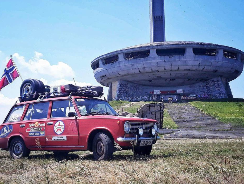 A Lada made it to Bulgaria.