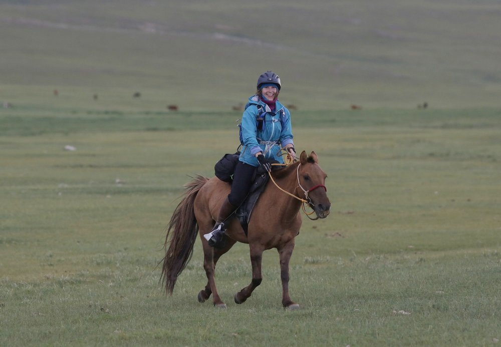 MP between HS2 and HS3 on day 1 of The 2017 Mongol Derby on 9.8.2017. in Mongolia. Picture by: (C) Julian Herbert.