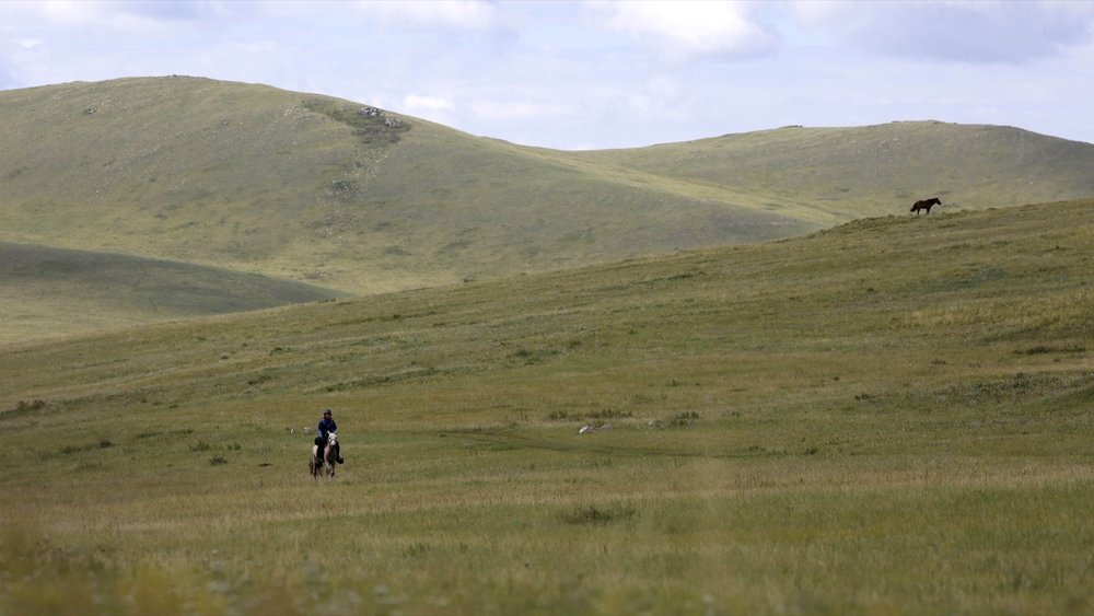 MP heads out during day 6 of The 2017 Mongol Derby on 14.8.2017. in Mongolia. Picture by: (C) Julian Herbert.
