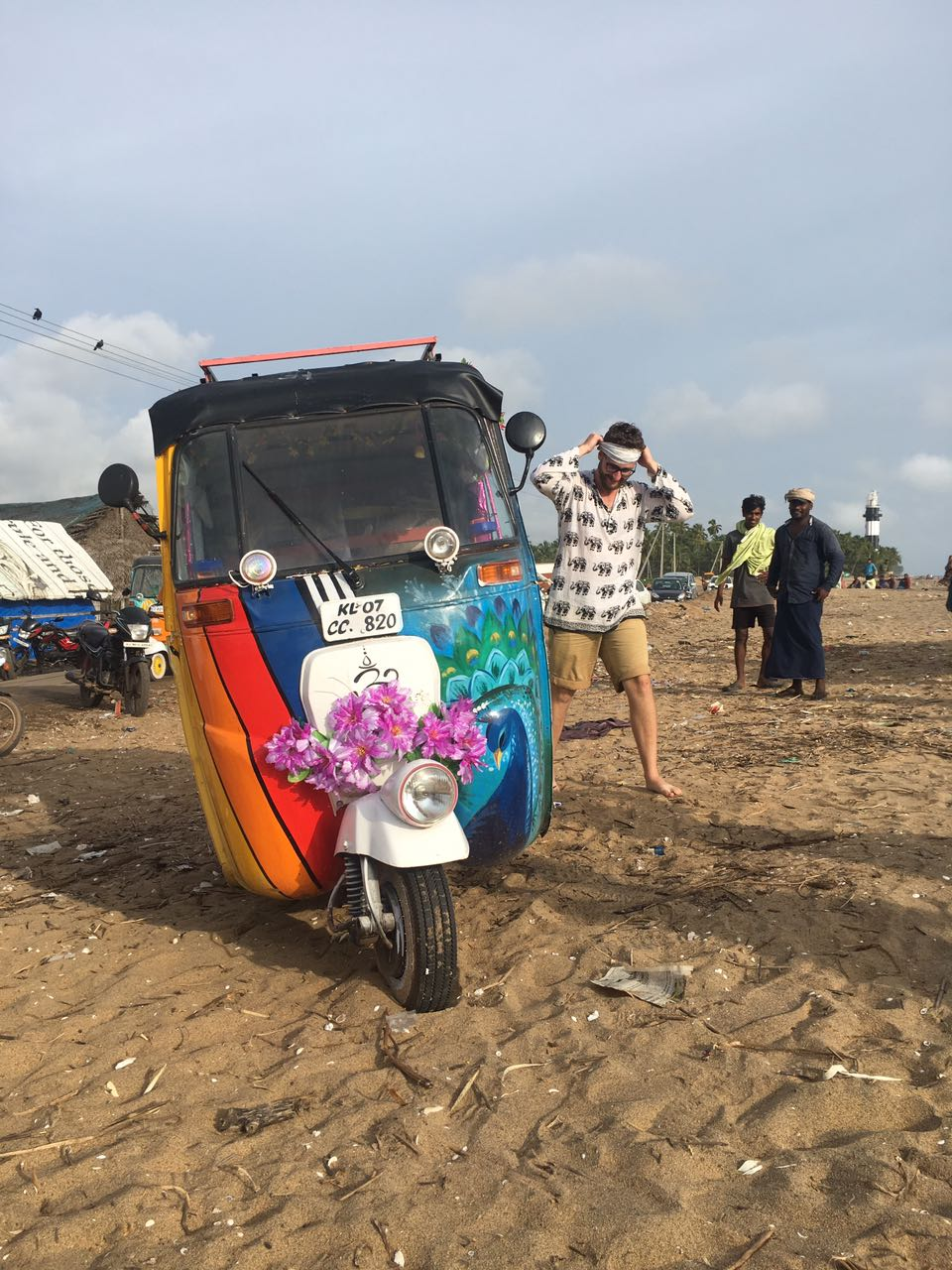 "Team Tuk Fast Tuk Furious / Tuk Me Gently feeling they might have been conned. ""I swear this beach hut looked different in the brochure""."