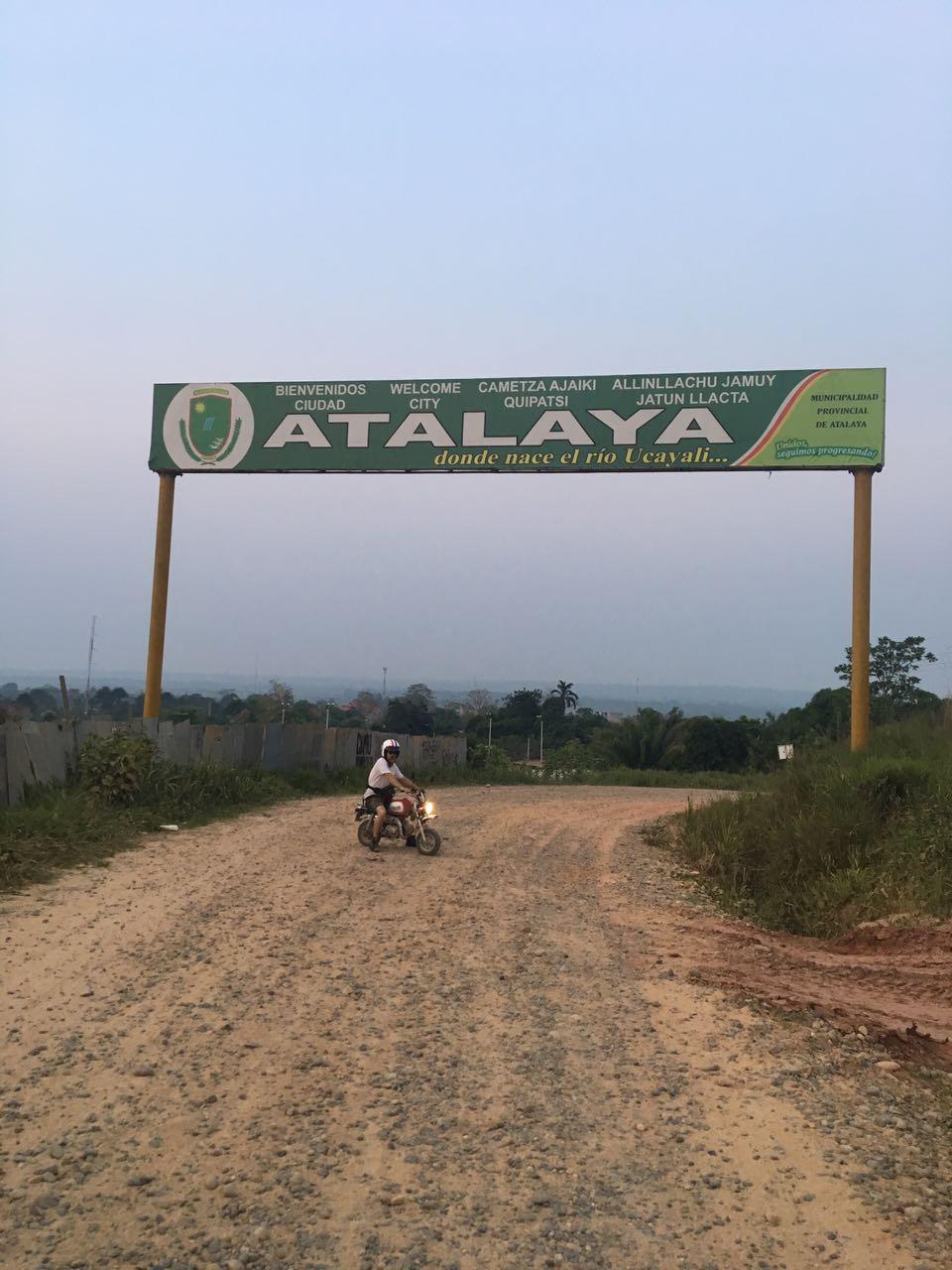 Mr Joolz finally rides a monkey bike into Atalaya under his own steam