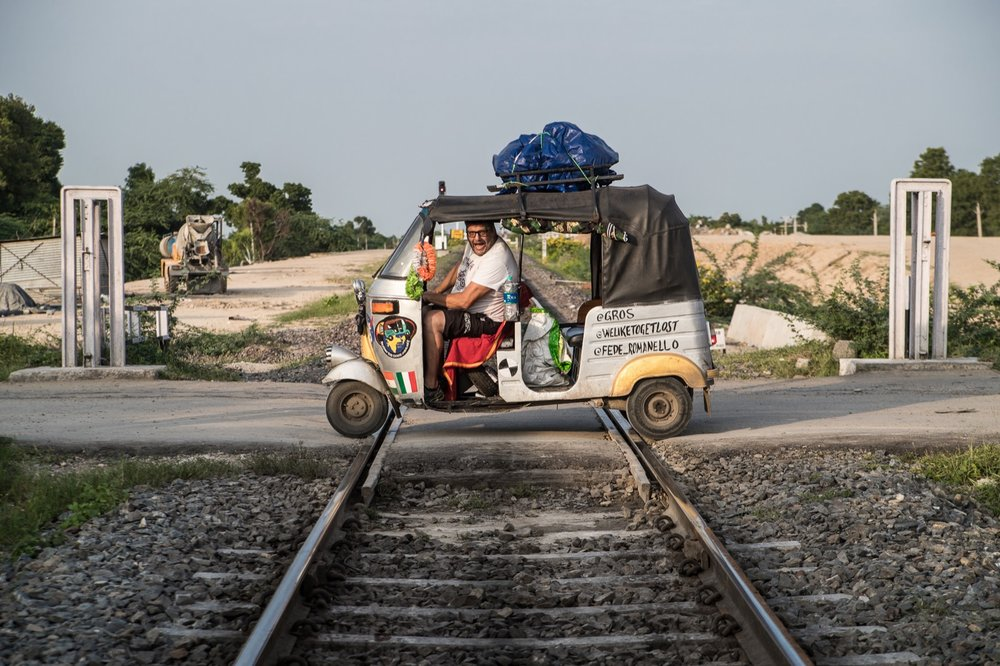 I'm pretty sure in the road hierarchy rickshaws come above trains. Or was it below?