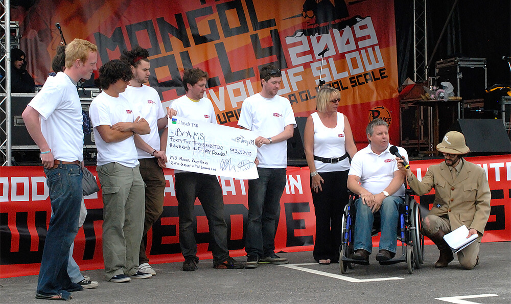 Team Butch Cassidy raised a monsterous £56,000 on the 2009 Mongol Rally