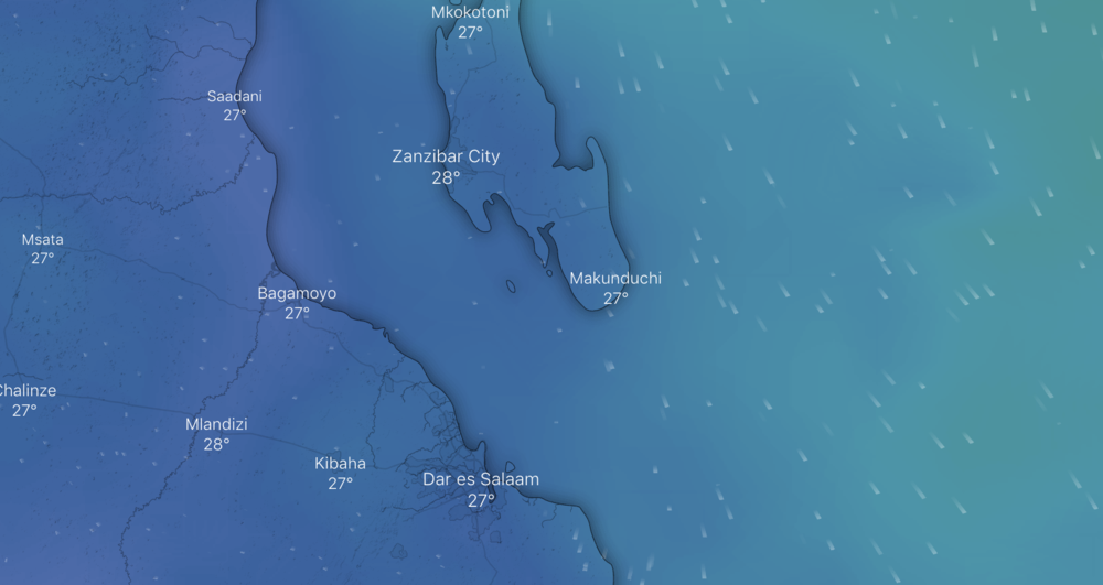 The dark blue indicates a windspeed of no more than 1kt