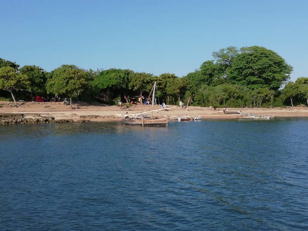 The four teams tucked away at the camp on Kwale