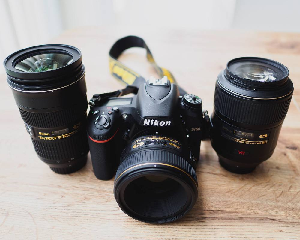 Nikon D750 + AF-S 58mm f/1.4G lens + 2 other lenses
