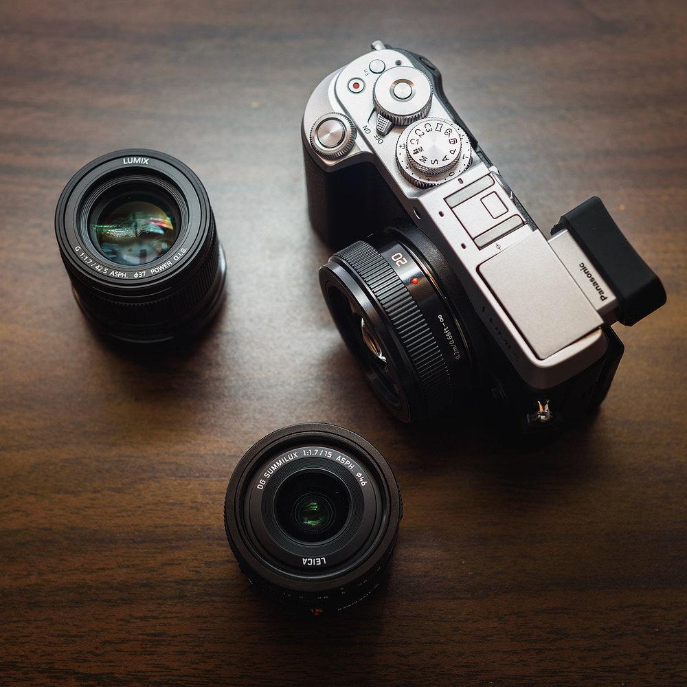 Lumix GX8 + Leica 15 + Lumix 20 + Lumix 42.5