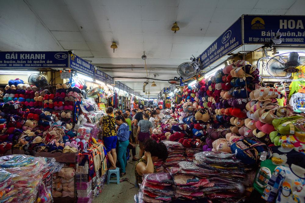 Some huge wholesale market in Hanoi
