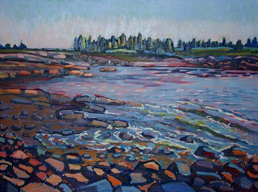 "Nina Weiss | Little Moose Island II | Oil on canvas | 36"" x 48"""