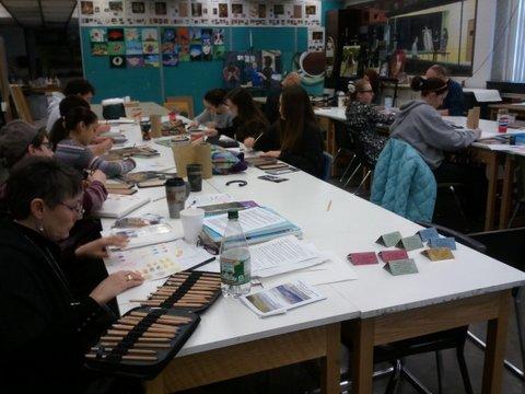 Colored Pencil highschool Workshop, Davenport, Iowa