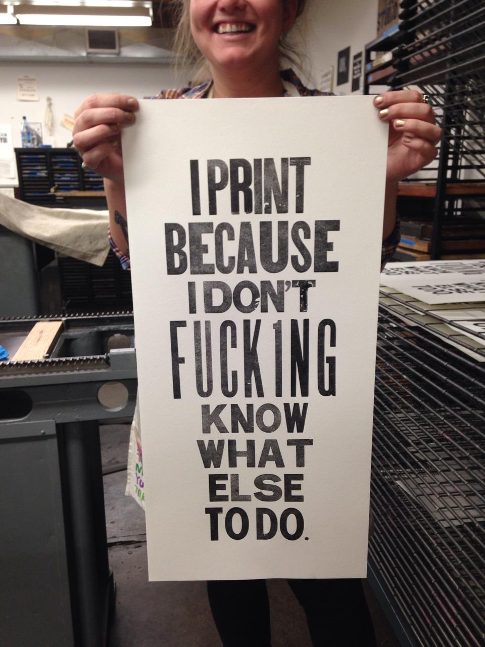 printmakersopenforum :     An anthem!!!! Thank you!!! xxoo