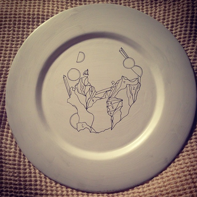 nailsbymei :     Salad on the plate #drawingbymei  #meisfavorite
