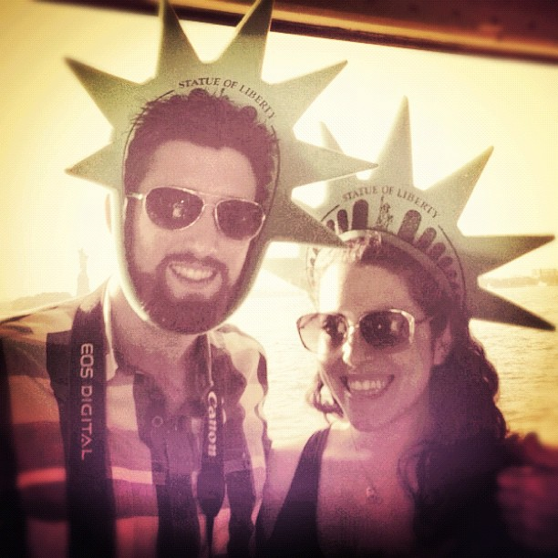 Dave is unclear on hat placement. #two #touristday / on Instagram  http://instagr.am/p/MwpUv1vDL3/