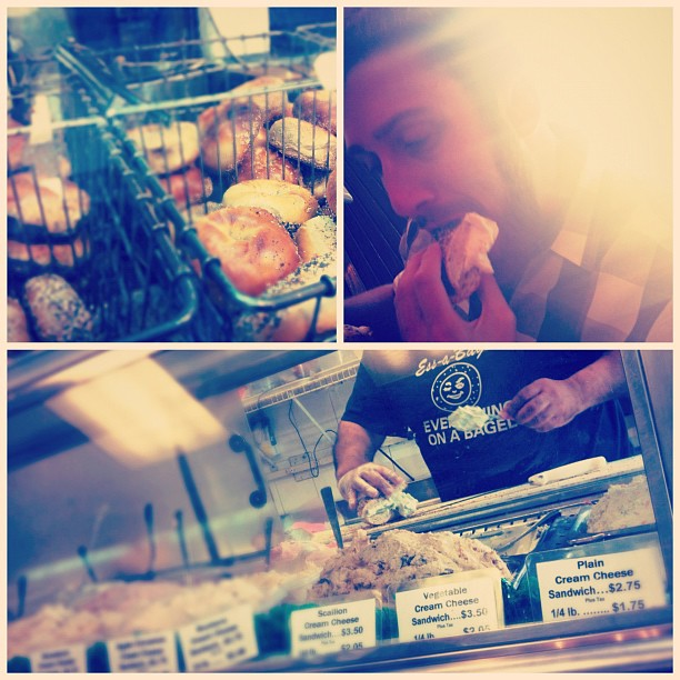 """This bagel is perfection."" #One #TouristDay / on Instagram  http://instagr.am/p/MwLfqMPDI9/"