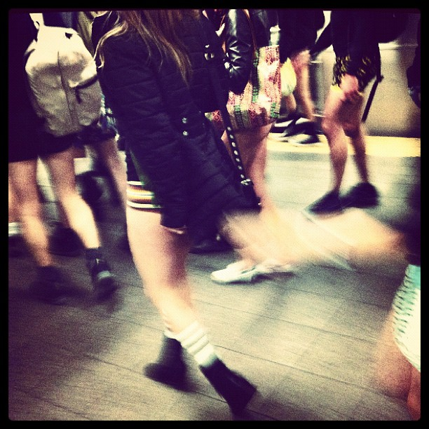 Where we're going, we don't need pants. / on Instagram  http://instagr.am/p/fjuNO/