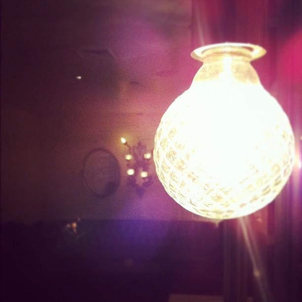 Fancy lightbulbs = fancy loo. / on Instagram  http://instagr.am/p/SiN03/