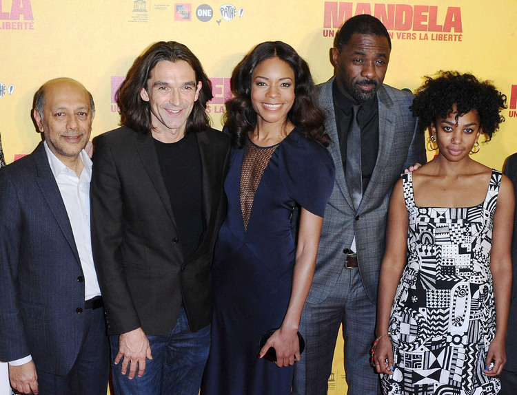 Pictured at UNESCO are Anant Singh, Justin Chadwick, Naomie Harris, Idris  Elba and Lindiwe Matshikiza / Pathé France (p)