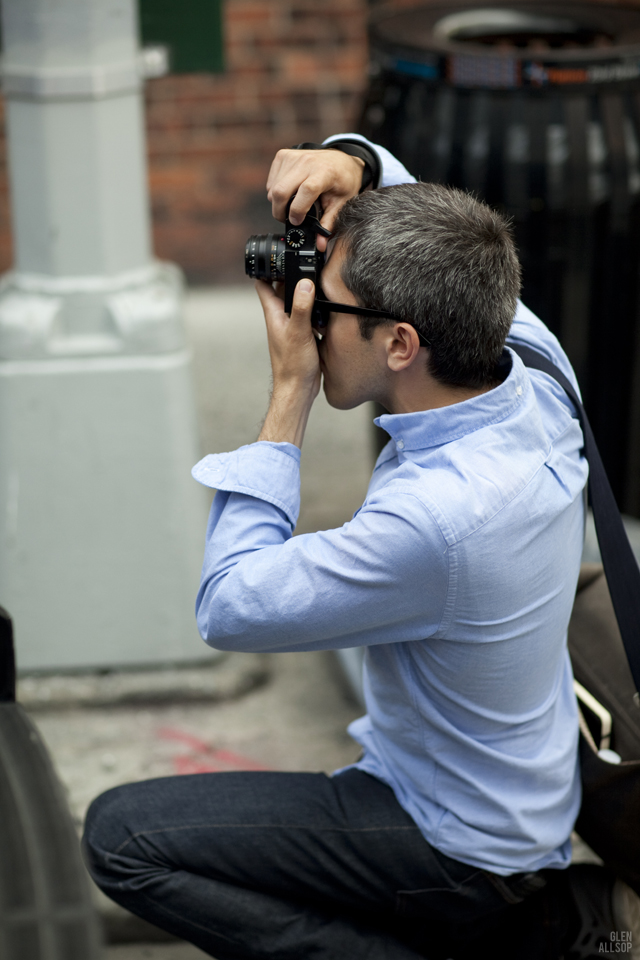 Here I am, at work during NYFW S/S 2013. Thanks,  Glen!      glenallsop :      RICKY O