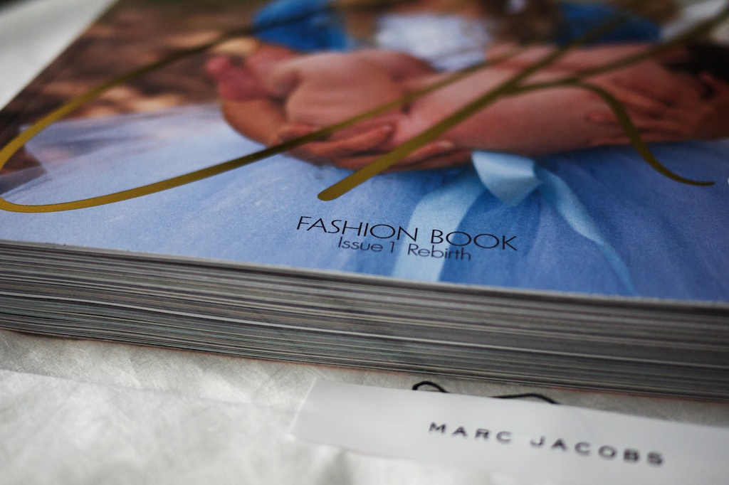 "Yes! CR Fashion Book is here! ""It's an escape, a…fairy tale. Fashion is meant to make us dream."" -Carine Roitfeld in her editor's note"