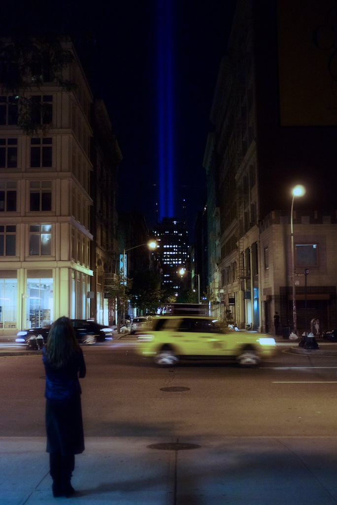 I was walking home from dinner on 9/11/2012, and, all of a sudden, this appeared to me on Greene and Houston.