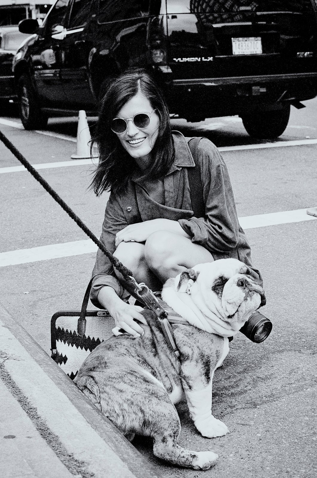 From last September: Hanneli Mustaparta and a new friend after the Ralph Lauren S/S 2012 show