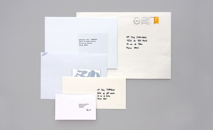 Margiela invite with multiple envelopes. (via  Fashion Show Invitations #1 - Page 33 - the Fashion Spot )