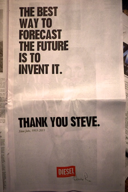 New York Times ad, 10/7/2011
