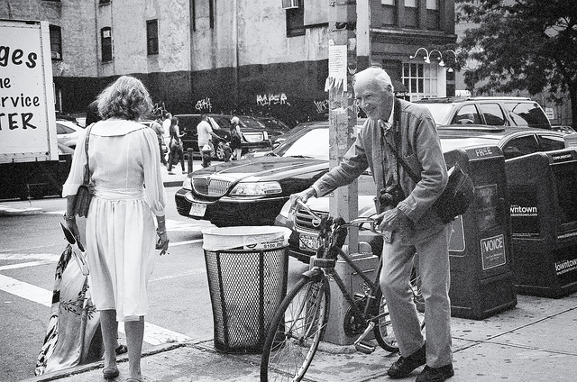Bill Cunningham and his bike—New York Fashion Week, September 2011  on Flickr.