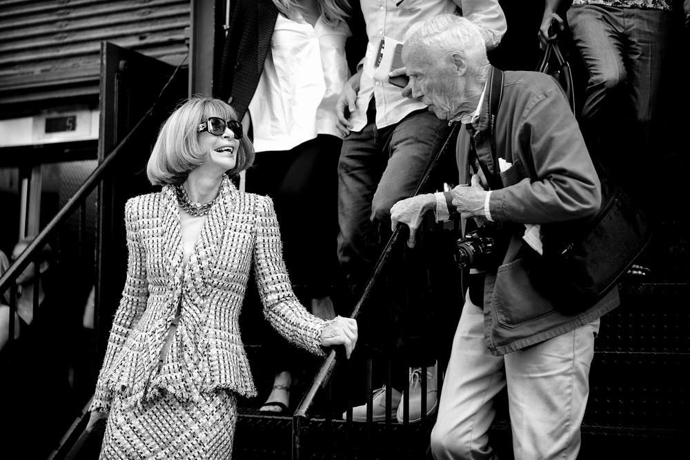 Anna Wintour and Bill Cunningham, New York 2013