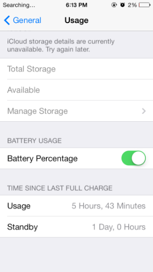 iPhone 5 usage after battery replacement