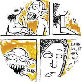 Comic - Saugnäpfe   Eine kurze Geschichte, die während dem Studium entstanden ist.