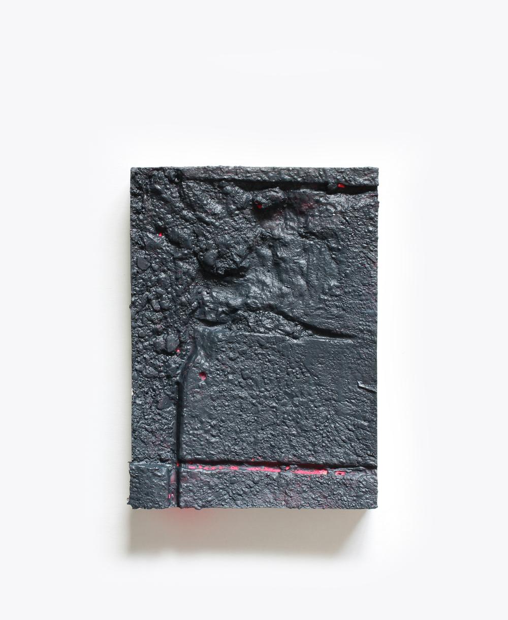 Elise  no. 12  Acrylic and spray paint on plaster  13cm x 18cm