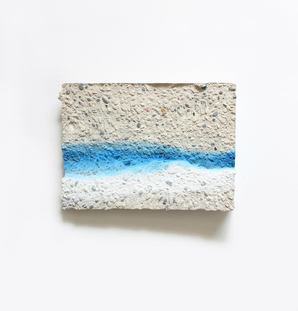 Elise  no. 17  Acrylic and spray paint on plaster  13cm x 18cm