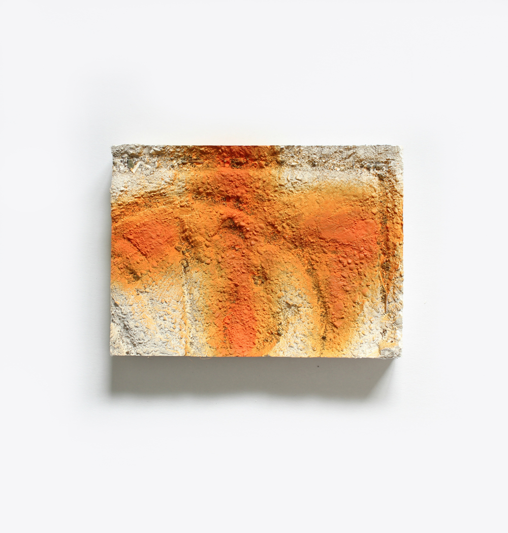 Elise  no. 14  Spray paint on plaster  13cm x 18cm