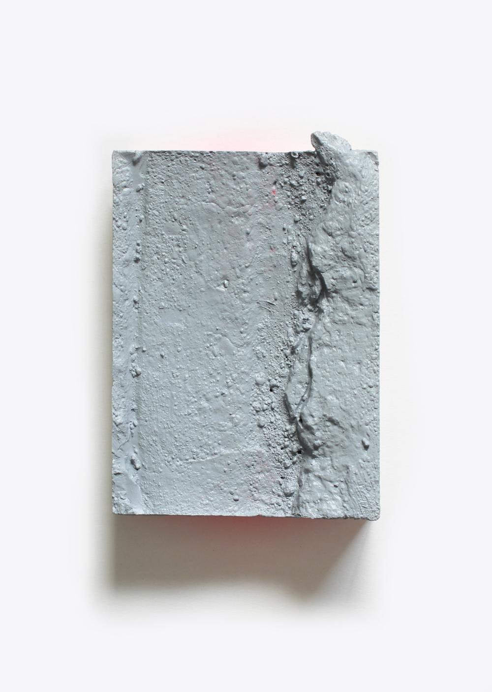 Elise  no. 1  Acrylic and spray paint on plaster  13cm x 18cm