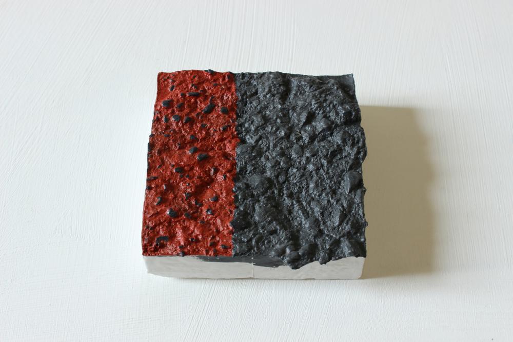 Acrylic on plaster  10cm x 10cm
