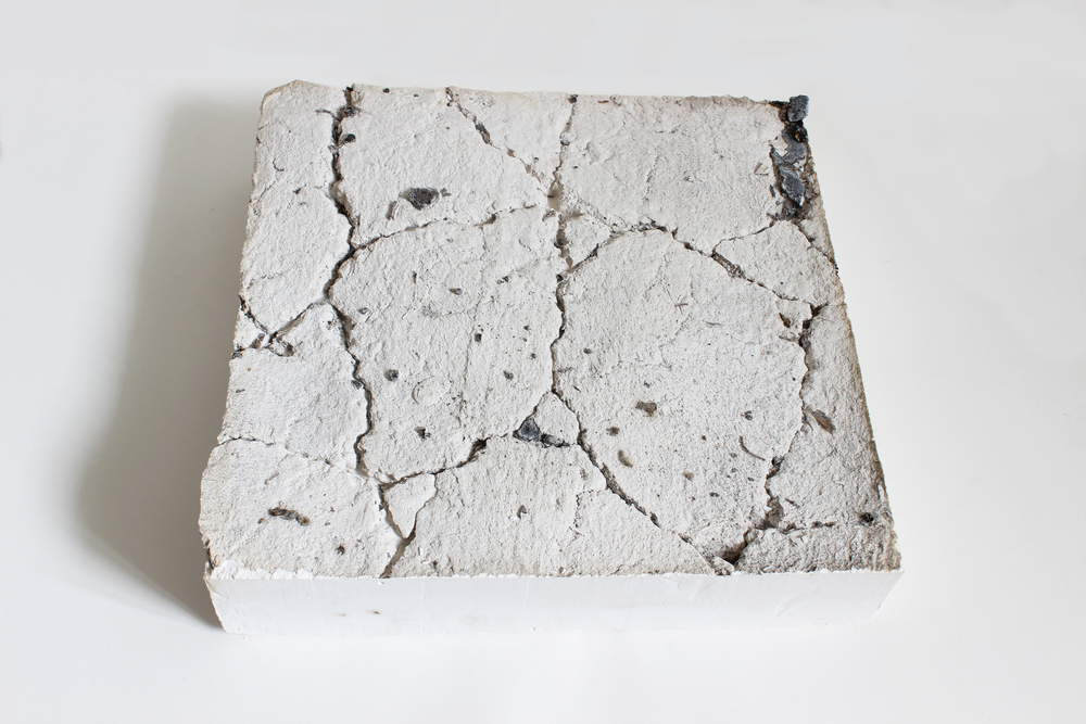 Plaster and asphalt  30cm x 30cm