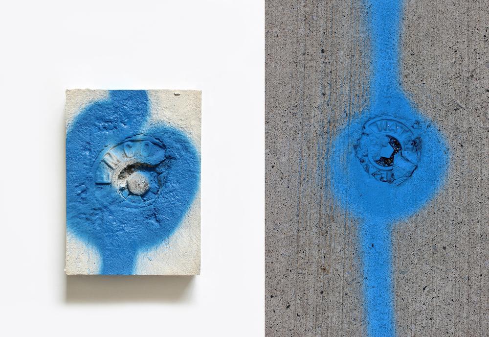 Elise  no.6  Spray paint on plaster  13cm x 18cm